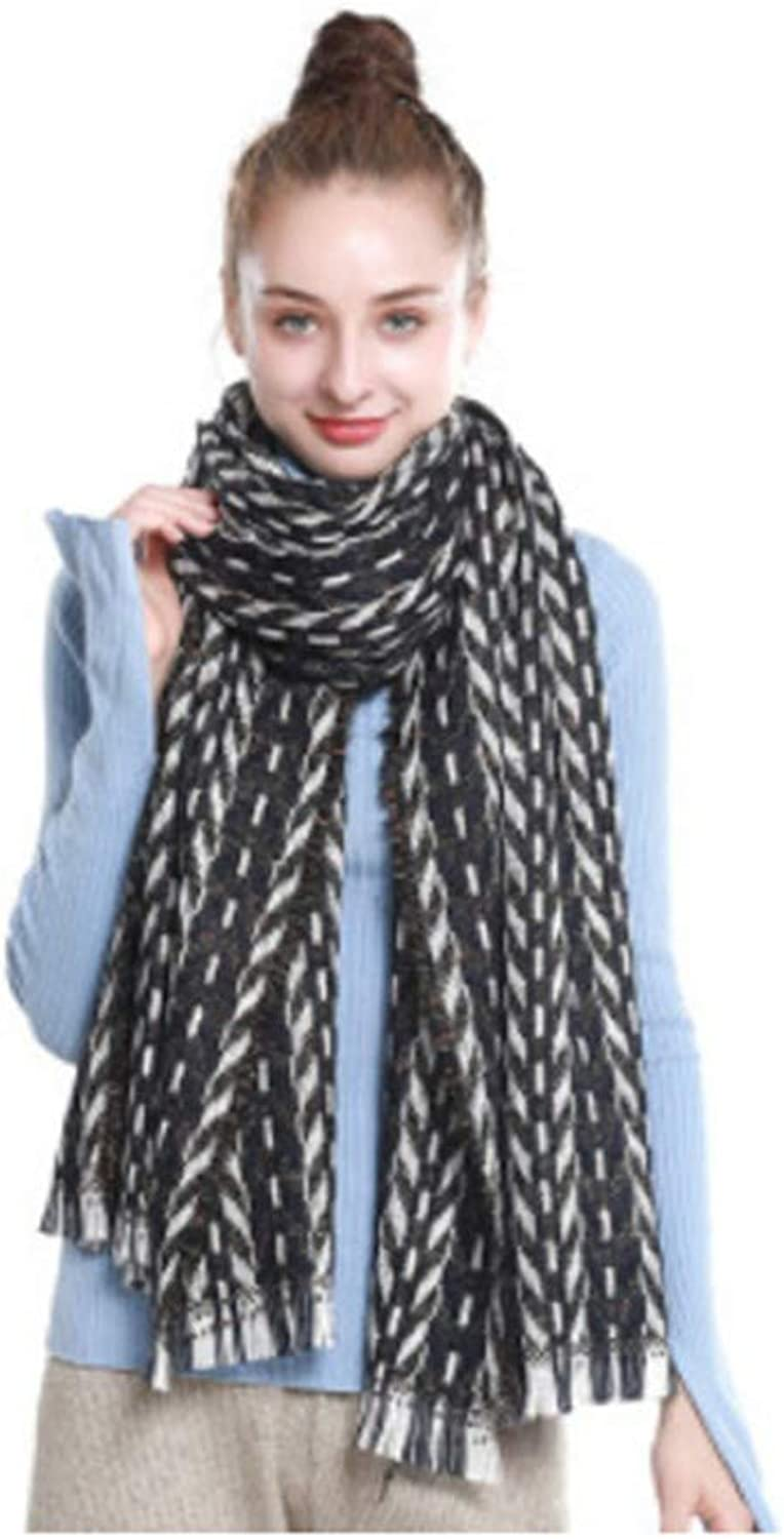 HYLIU Infinity Scarf Winter couple student scarf comfortable and breathable bla