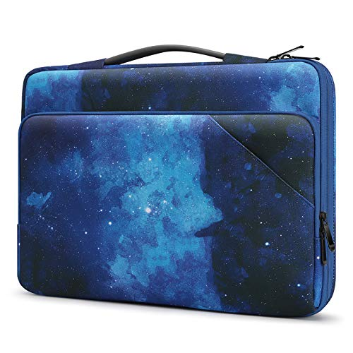 Dadanism 14 Inch Laptop Carrying Case for Macbook Pro 15'/16', Surface Book/Laptop 15', Lenovo ThinkPad/IdeaPad 14', HP Acer Chromebook 14', 360° Protective Laptop Bag Computer Bag, Blue Sky Star