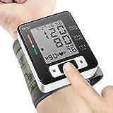 Digital Wrist Blood Pressure Monitor, LCD Screen Heart Beat Meter Wrist Cuff Accurate Automatic Blood Pressure Monitor Portable Health Monitoring