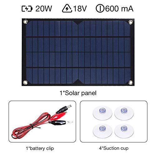 El panel solar de ahorro de energía flexible del coche recargable del solo cristal 20W, usado para el cargador de batería para teléfono móvil, el coche que acampa de RV, interfaz de 5V USB 2.0