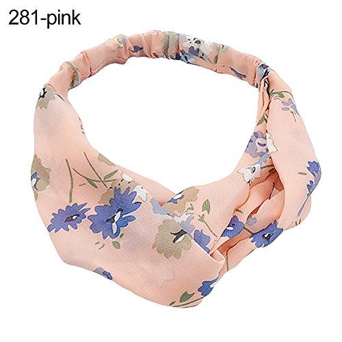 Homeofying Femme Twisted noué Bandeau Floral élastique Bandeau rayé Accessoires Cheveux