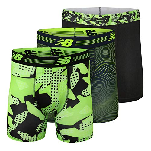 New Balance Men s Ultra Soft Performance 6  Boxer Briefs with No Fly (3-Pack of Underwear)