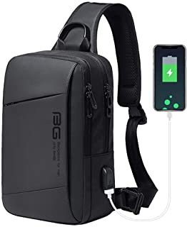 ボディバッグショルダーバッグメンズ斜めがけバッグワンショルダーバッグ大容量USB充電ポート多機能左右肩掛け対応防水iPad収納可能旅行通勤 通学 ビジネスアウトドアスポーツバッグ黒Mersuii
