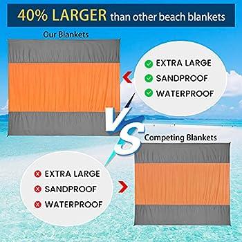 ZOMAKE Couverture de plage anti-sable, surdimensionnée, tapis de plage sans sable, 275 x 200 cm, pour adultes de plus de 6 ans