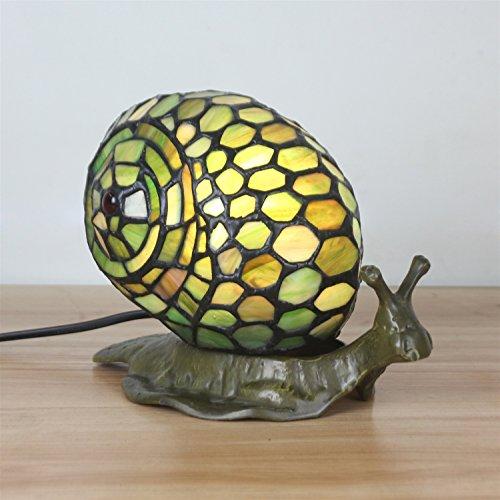 Gweat Tiffany Lampada da tavolo moderna della lampada da tavolino della lumaca bella