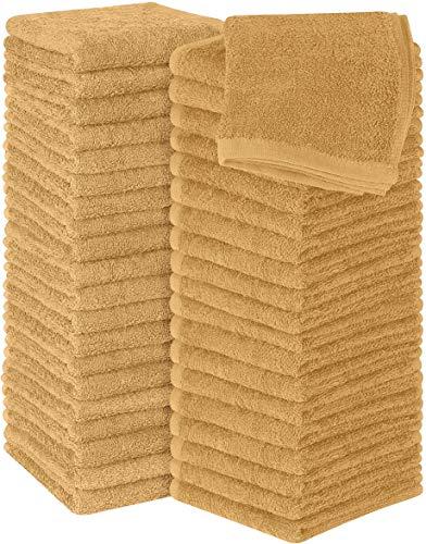 Utopia Towels - 60 Toallas para la Cara de algodón, Paños de algodón (30 x 30 cm) (Beige)