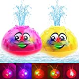 AOLIGE 2Pcs Baby Light Up Bath Toys for Toddlers Kids Spray Water Pool Bath Tub Sprinkler Toy