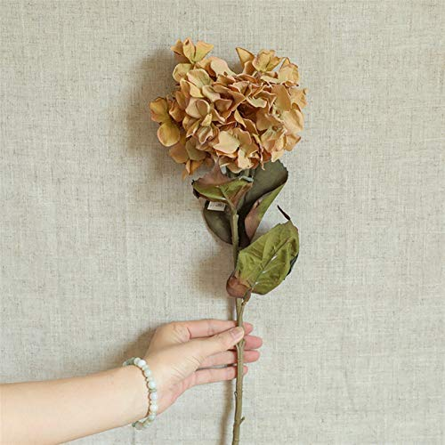 NIRIBALLA Dream Secd Flower Hydrangea Jardín de Boda Decoración para el hogar Party Decoraciones de Navidad Flores Artificiales Plantas para Manualidades (Color : Light Brown)