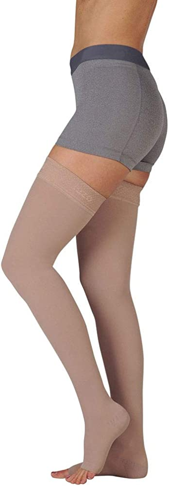Max 85% OFF Juzo Basic New Free Shipping 4411ag 20-30mmhg Thigh-High Stoc Compression Toe Open