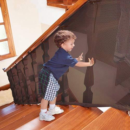 Rete Protezione Gatti Balcone,Rete di Protezione per scale e balcone per bambino e neonati,...