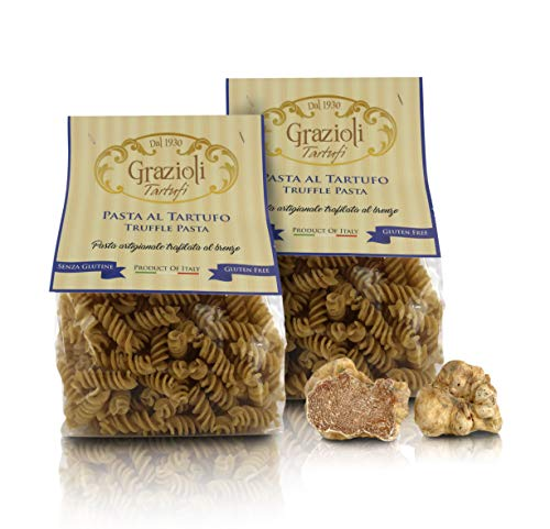 Grazioli Tartufi Pasta Italiana con trufa Negra SIN Gluten - Fusilli - 250gr