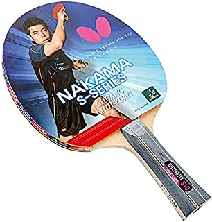 Butterfly Nakama S-10 Table Tennis Racket – ITTF Approved Ping Pong Paddle – Wakaba Table Tennis Rubber and Thick Sponge Layer Ping Pong Racket – 2 Ping Pong Balls Included