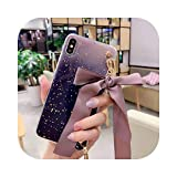 Custodia a tracolla in TPU per iPhone SE2020 12 Mini 11 Pro Xs Max Xr X 8 7 6s Plus Capa-1-DarkPurple per SE2 o SE 2020