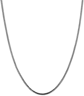 14k Gold Solid Franco Chain Necklace with Lobster Clasp (2.4mm)