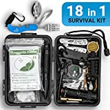 BOCK 2005 Survival Kit Überlebensset Überlebensausrüstung Überlebenspaket | Prepper Ausrüstung + Tactical Pen, Survival Armband, Kompass Outdoor, Feuerstein Survival Feuerstahl Paracord Bushcraft