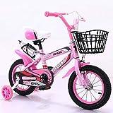 GTD-RISE Bicicleta niño Bicicleta Infantil Bicicletas niños, Pedales de niños Botella Bicicleta con Agua Bicicletas Flash de la Rueda del niño Trainning por 2-8 años de tamaño 12/14/16/18 Pulgadas