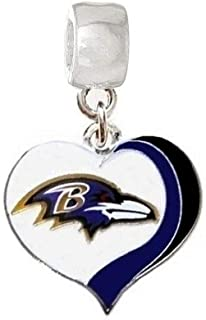 CHARM BALTIMORE RAVENS FOOTBALL PENDANT FOR NECKLACE BRACELET JEWELRY DIY
