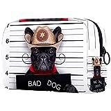 Organizador De Neceser De Maquillaje Bolsas De Cosméticos Pequeñas para Mujeres Neceser De Viaje De Aseo Estuche De Maquillaje Bolso De Mano Bad Mexican Dog In A Police Mugshot