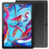 Tablet 10 Inch, Quad Core Android 9 1280x800HD Touchscreen Tablets with WiFi, 6000mAh Battery, 32GB ROM 128GB Expand Storage, Dual Camera. Bluetooth/GPS/FM/OTG/Google Certified,(Black)