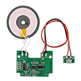 ASHATA DIY Qi Standard Wireless Charger Accessory PCBA Circuit Board with Coil Wireless Charging Transmitter Module