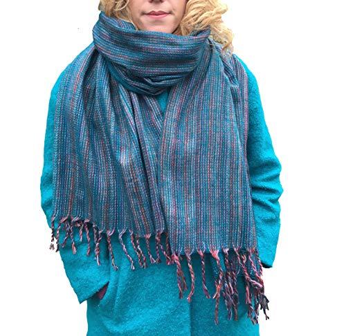 Petrol Decke Schal oder Schal, wendbar, Sofaüberwurf, Meditations-Decke, Ethnisch, Festival, Bohomeian