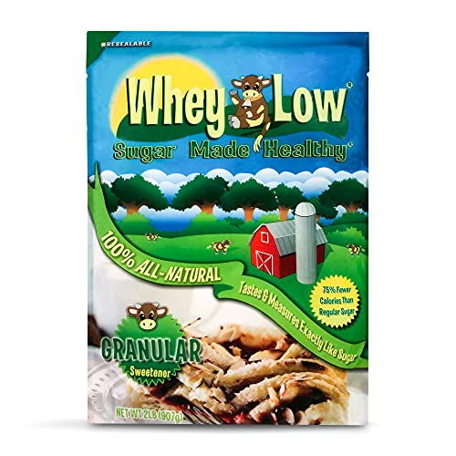 Whey Low Sweetener Granular 32 Ounce - Sugar Made for Diabetics with All Natural Ingredients