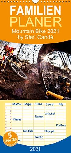 Mountain Bike 2021 by Stef. Candé - Familienplaner hoch (Wandkalender 2021, 21 cm x 45 cm, hoch)