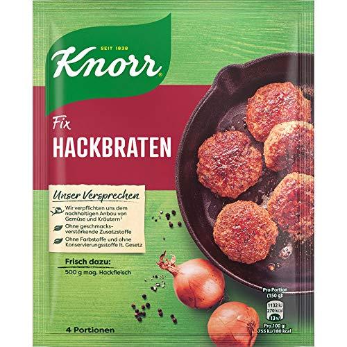 Knorr Fix Würzbasis Hackbraten (ohne geschmacksverstärkende Zusatzstoffe & mit sorgfältig abgestimmten Gewürzen), 4 Portionen