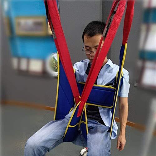 511o8VfNoqL - Grúa de paciente portátil de transferencia de honda de la correa, en movimiento suave Assist alzamiento de la marcha del arnés del cinturón ajustado Heights de dispositivos, for la tercera edad, disca