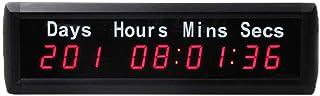 Fitness Training Timer LED Digital Countdown väggklocka dag timme minut andra fitness timer fjärrkontroll gym väggmonterin...