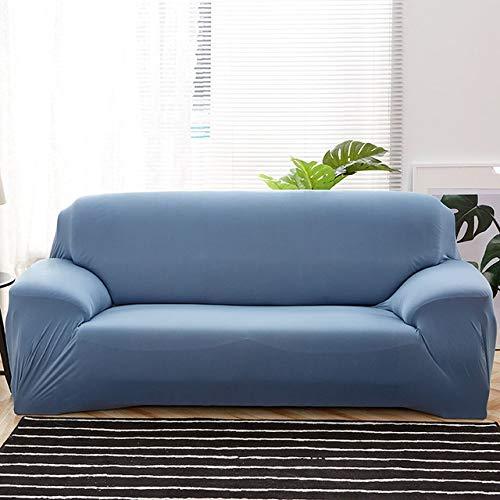 Dujie - Funda elástica para sofá (15, 4 plazas, 235 y 300 cm), color blanco