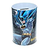 DC Comics Batman Kids Tin Piggy Bank Learning Savings Tools for Kids