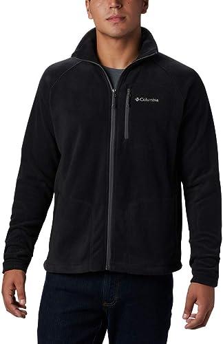 Columbia M Presque Trek Light Full Zip Fleece Noir Hommes Loisirs Veste Taille S