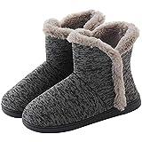 Men Winter Slipper Boots Warmer Plush Fleece Bootie Slippers for House Anti-Slip Snow Bootie for Outdoor Indoor