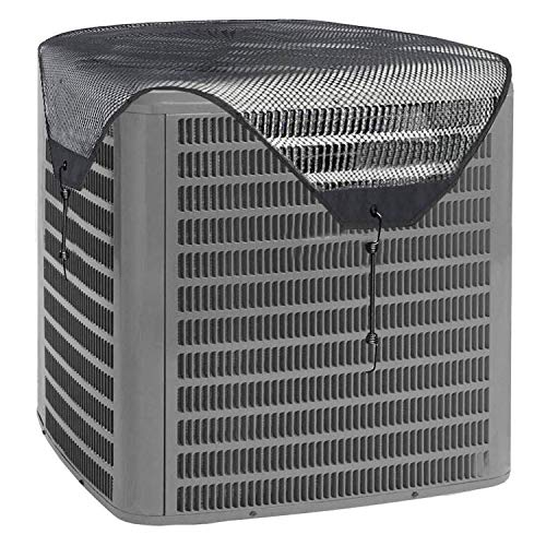 Air Conditioner Leaf Guard Central air conditioning cover Keeps Out Leaves Cottonwood and Debris-Black (32X32)