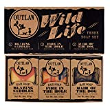 Outlaw Wild Life Homemade Natural Soap Gift Set - 3 Western-style Handmade Soaps in a Rustic Gift Box - The Ideal Gift for the Wild West Lover in your Life (Who Also Enjoys Being Clean)