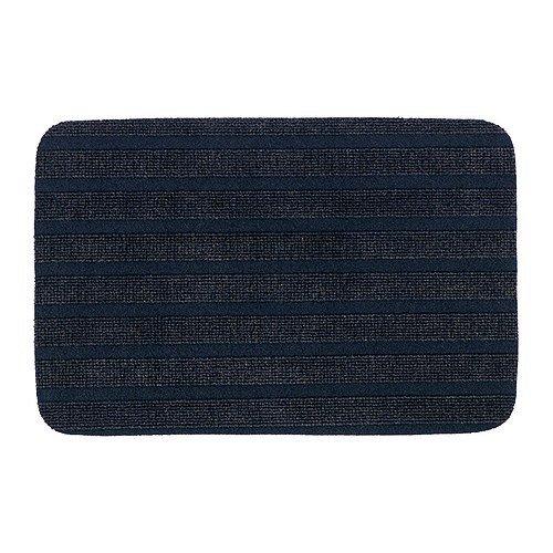 IKEA BORRIS Fußmatte in dunkelblau; (38x57cm)