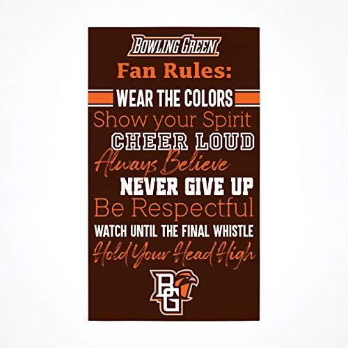 P. Graham Dunn Collegiate Fan Rules Bowling Green State University NCAA 24x14 Birkenholz Palettendekor Schild
