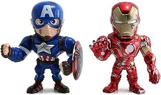 Iron Man & Captain America 4 Inch Die cast Metals 2 Pack Figures