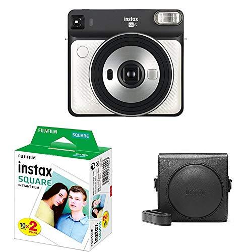 Fujifilm Instax SQ 6 EX D Sofortbildkamera Starter Set, Pearl Weiß