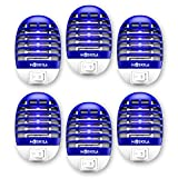 MOSKILA Bug Zapper- 6 Packs Electronic-Fruit Fly Month Zapper- Insect Pest Attractant Trap-Light Mosquitoes Killer Indoor Non-Toxic Silent Effective Operation- Insects Killer Lamp for Backyard Patio