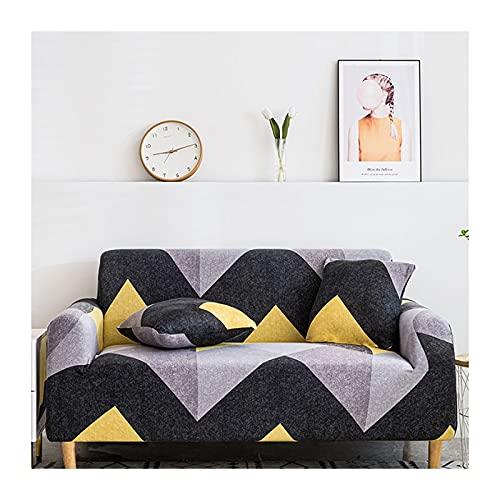 DGSGBAS Funda de Sofá,Funda Elástica para Sofá,1/2/3/4 plazas Funda de Sofá Elástica, Funda Sofá Printed Antisuciedad Antideslizante Protector de Muebles (Color : M, Size : 4 Seater)