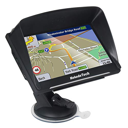 GPS Navigation for Car Truck 7 inch Capacitive HD Screen GPS Navigator System with Latest Free Lifetime Maps, 8G 256M Voice Broadcast Function and Speed Camera Warning,Driving Alert