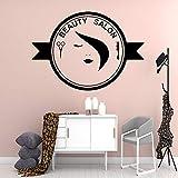 Magnifique Salon de beauté Autocollant Mural Papier Peint Vinyle Amovible décoratif décoration décalcomanie Murale 33X46 cm
