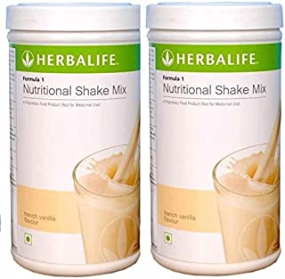 Herbalife Formula 1 Nutritional Shake Mix 500 Grams for Weight Loss - Vanilla Pack of 2
