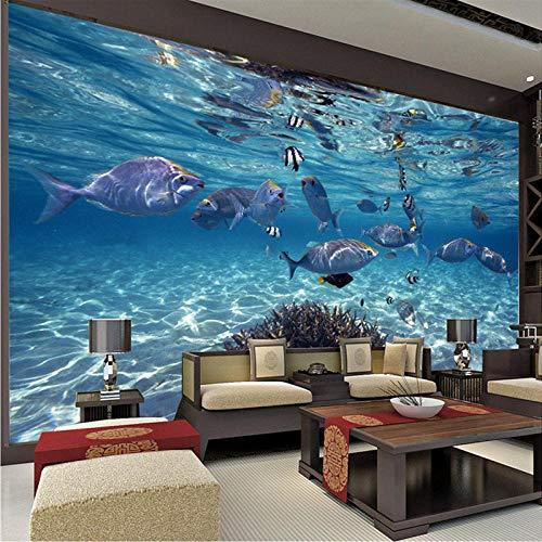 LOVEJJ Carta da parati acquario 250cmx175cm Fotomurali in Murale alla moda Decorazione da Muro Poster Gigante Design Carta per pareti Astratto 3D