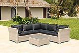 Backyard Furniture Chesterton Luxury 5 Seater Deepseating Rattan <span class='highlight'>Garden</span> Lounge Set with Cushions, Grey, 230 x 146 x 67 cm