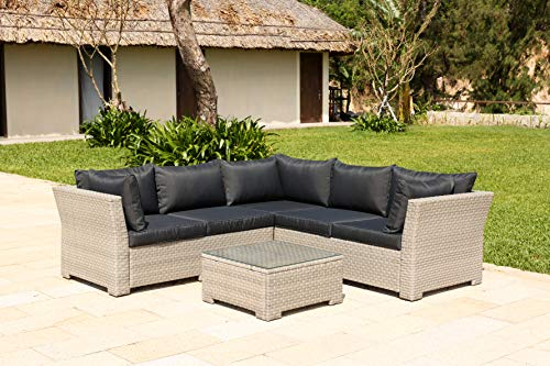 Backyard Furniture Chesterton Luxury 5 Seater Deepseating Rattan Garden...