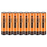 8-Pack iMah AAA Rechargeable Batteries 1.2V 750mAh Ni-MH, Also Compatible with Panasonic Cordless Phone Battery 1.2V 550mAh HHR-55AAABU and 750mAh HHR-75AAA/B, Toys and Outdoor Solar Lights
