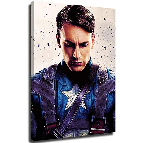 Captain America Winter Soldier Abstract Art Painting Canvas Artwork Contemporary Pictures Modern Landscape for Office Decoration 24'x36'